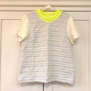 J. Crew Collection Metallic Tweed Top - Size 8